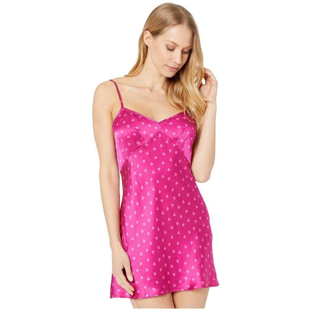 オンリー ハーツ Only Hearts レディース スリップ・キャミソール インナー・下着【Heritage Hearts Silk Bias Mini Slip】Fuchsia Pink
