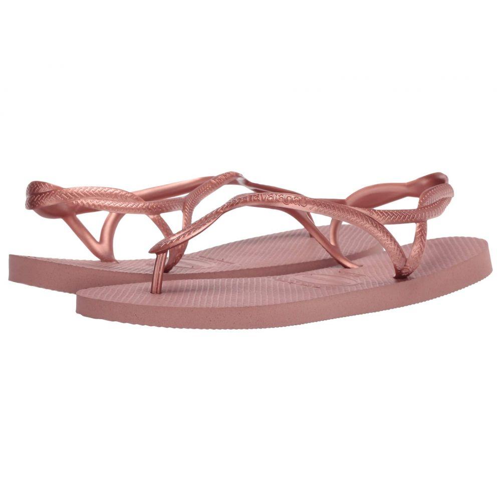 ハワイアナス Havaianas レディース ビーチサンダル シューズ・靴【Luna Flip Flops】Crocus Rose