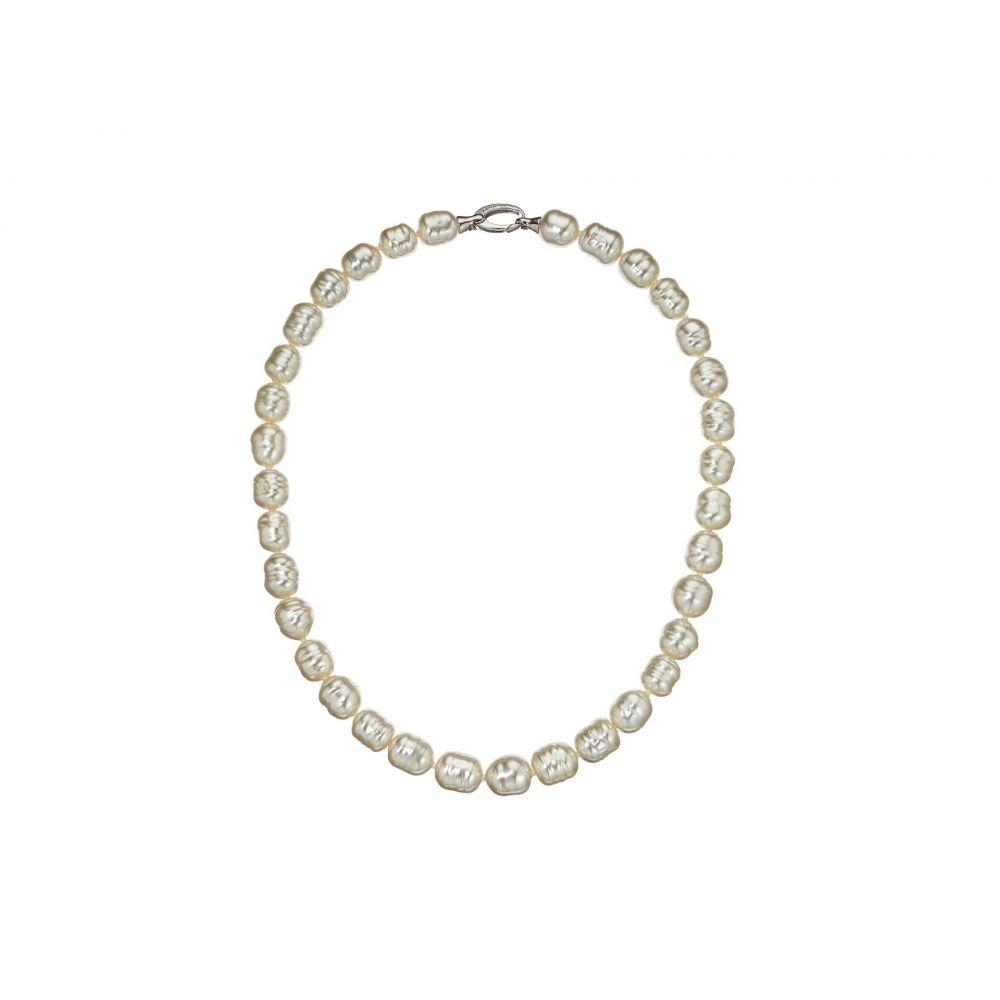 マジョリカ Majorica レディース ネックレス ジュエリー・アクセサリー【10 mm 17' Timeless19 Baroque Pearl Necklace with Silver Bean Clasp】White