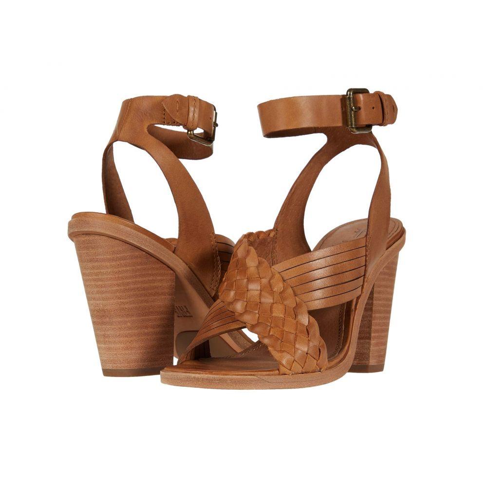 フライ Frye レディース サンダル・ミュール シューズ・靴【Sara Crisscross Sandal】Tan Polished Soft Full Grain