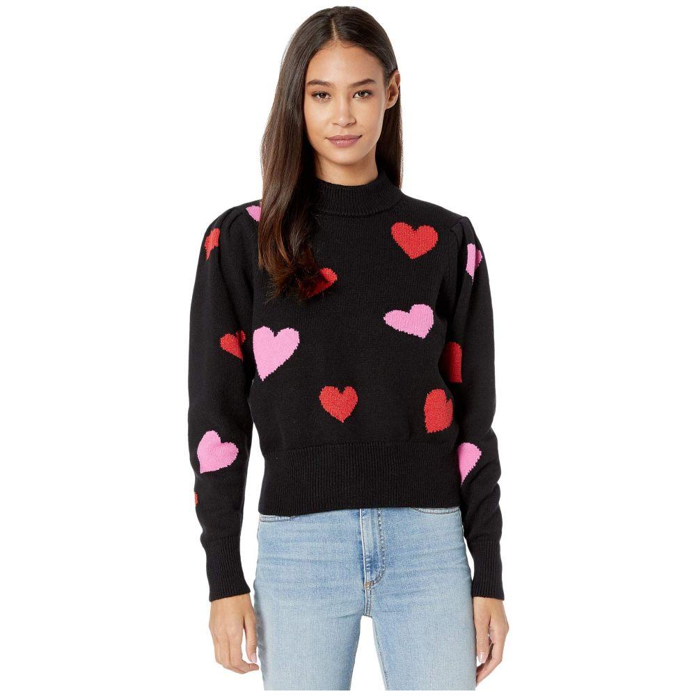 ケイト スペード Kate Spade New York レディース ニット・セーター トップス【Hearts Mock Neck Sweater】Black