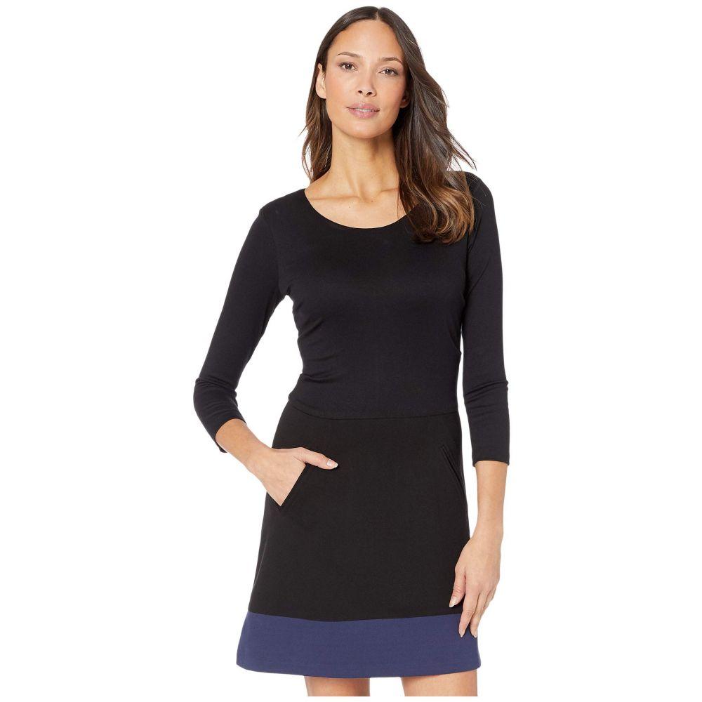 ニコルミラー Nicole Miller レディース ワンピース ワンピース・ドレス【Ponte Scoop Neck Dress】Black Navy