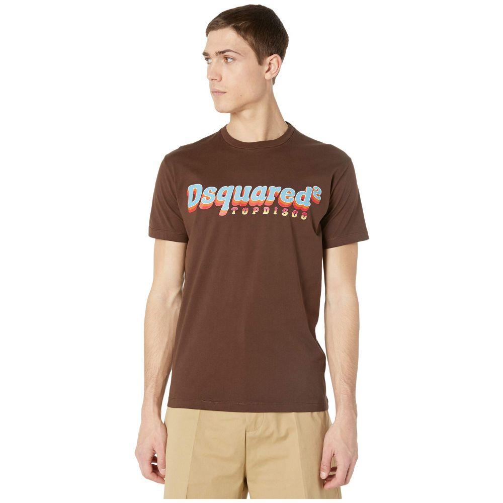 ディースクエアード DSQUARED2 メンズ Tシャツ トップス【Ringer Top Disco T-Shirt】Brown