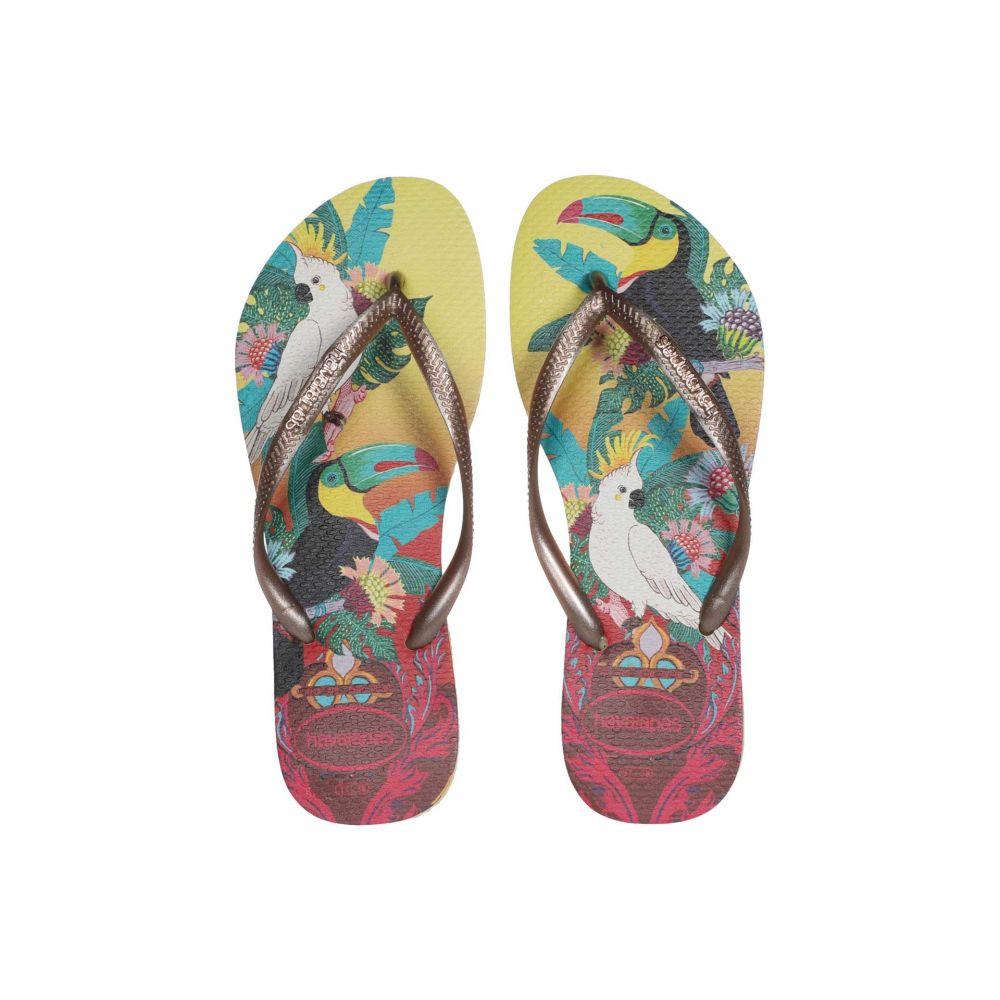 ハワイアナス Havaianas レディース ビーチサンダル シューズ・靴【Slim Tropical Flip Flops】Lemon Yellow