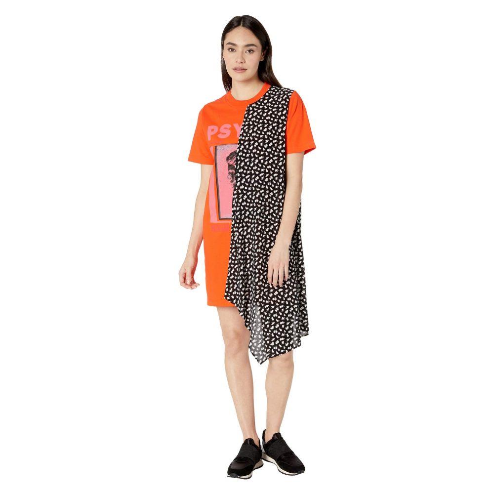 マックイーン McQ レディース ワンピース ワンピース・ドレス【Hybrid Tee Dress】Orange Voltage