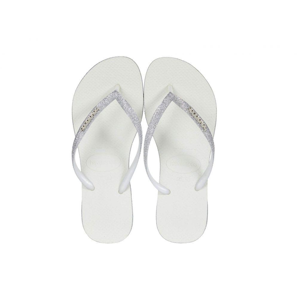 ハワイアナス Havaianas レディース ビーチサンダル シューズ・靴【Slim Sparkle Sandal】White