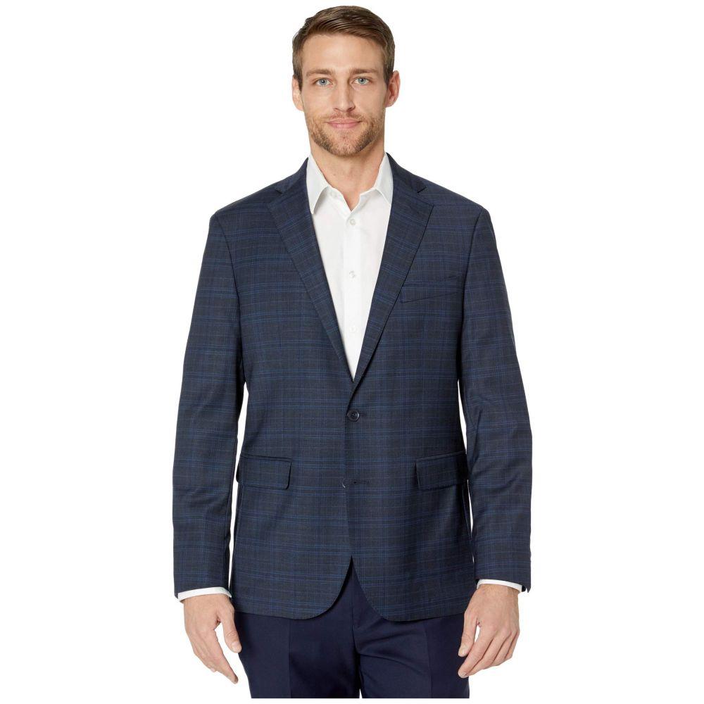 コールハーン Cole Haan メンズ スーツ・ジャケット アウター【Slim Fit Suit Separate Coat】Blue Plaid