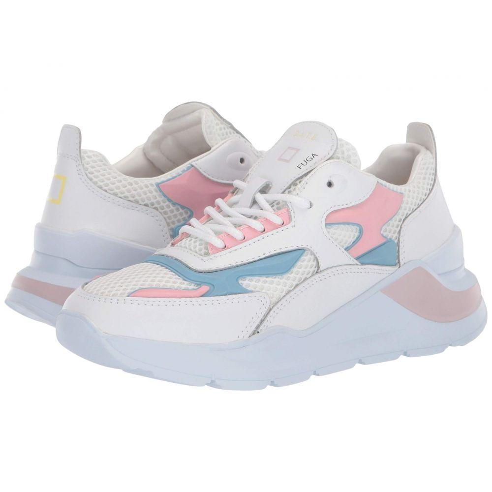 デイト D.A.T.E. レディース スニーカー シューズ・靴【Fuga Injection】White/Pink