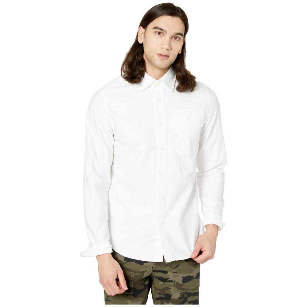 ジースター ロゥ G-Star メンズ シャツ トップス【Bristum One-Pocket Slim Shirt Long Sleeve】White/White