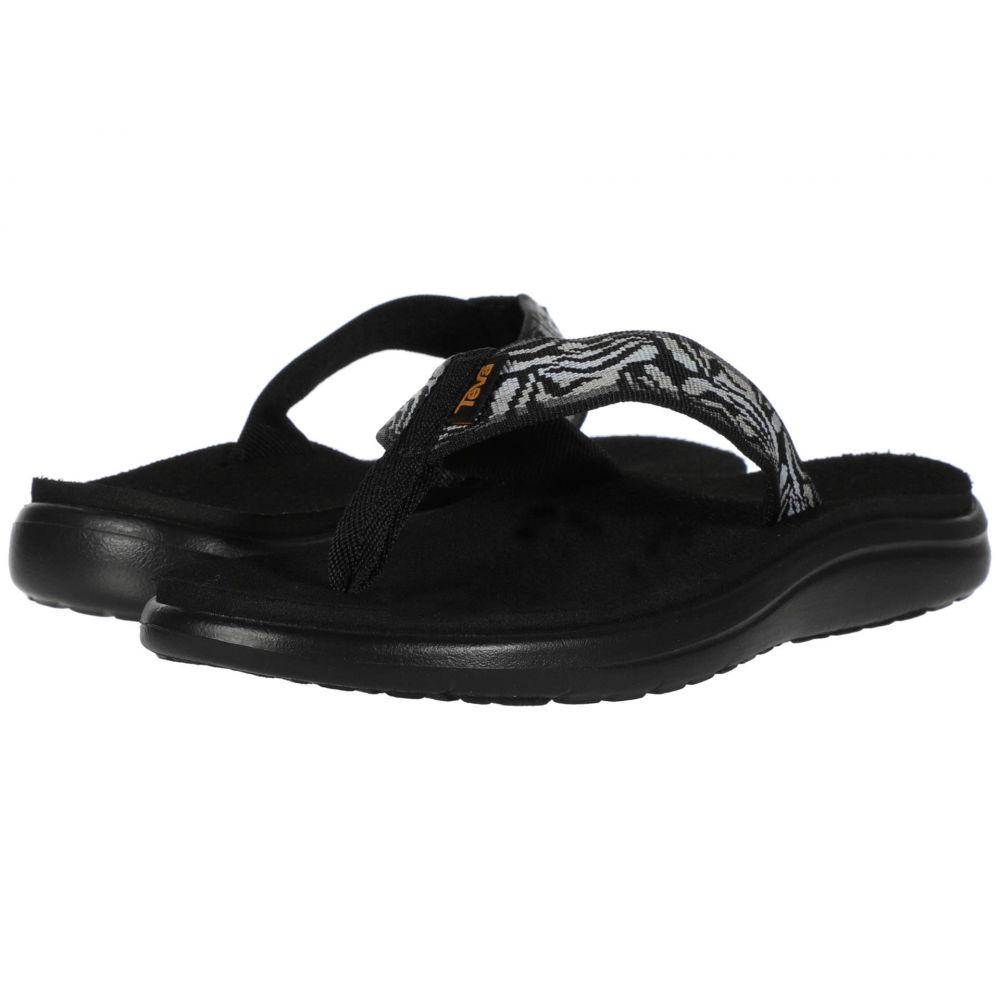 テバ Teva レディース ビーチサンダル シューズ・靴【Voya Flip】Minoa Black
