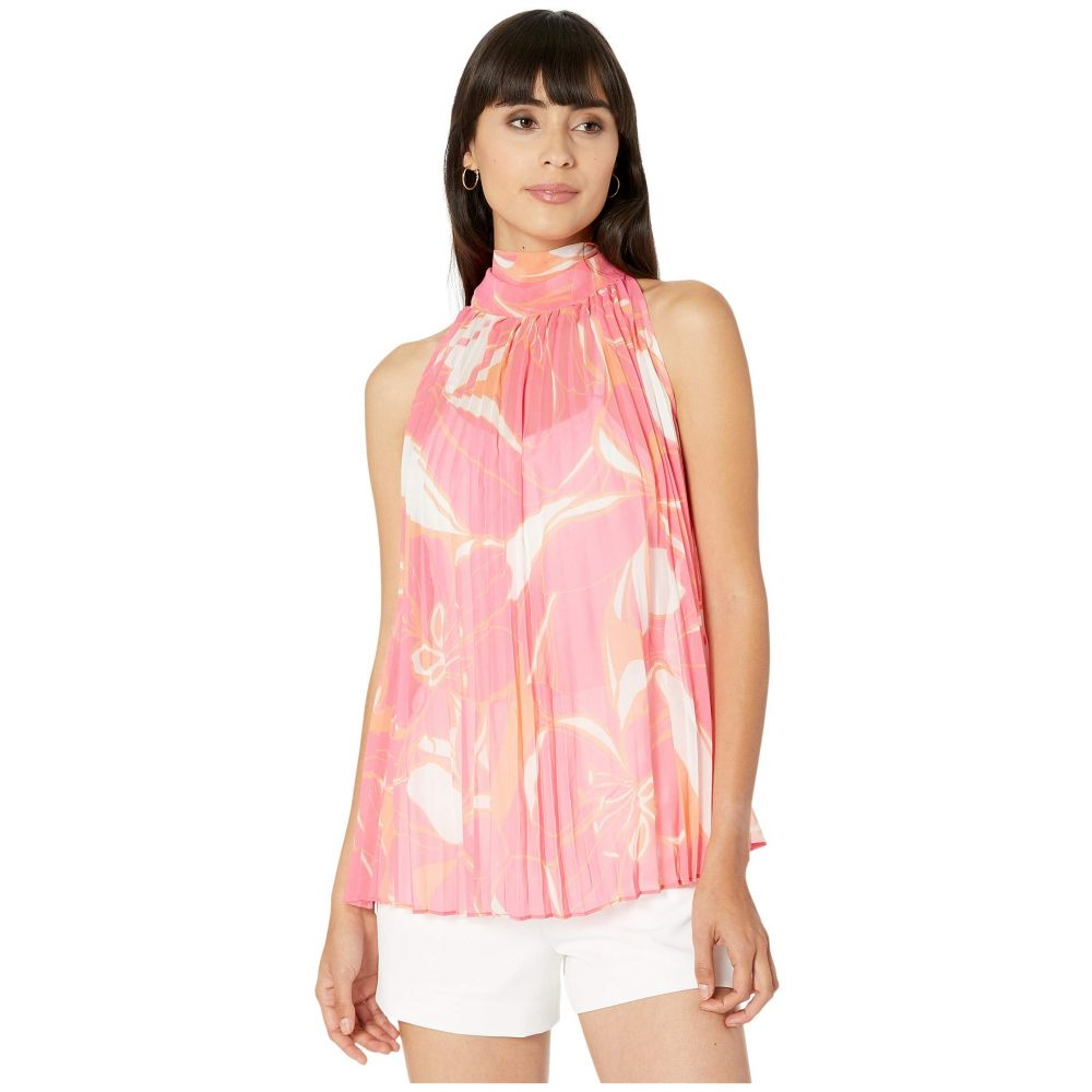 ミリー Milly レディース ブラウス・シャツ トップス【Stencil Floral Print Brooke Top】Pink Multi