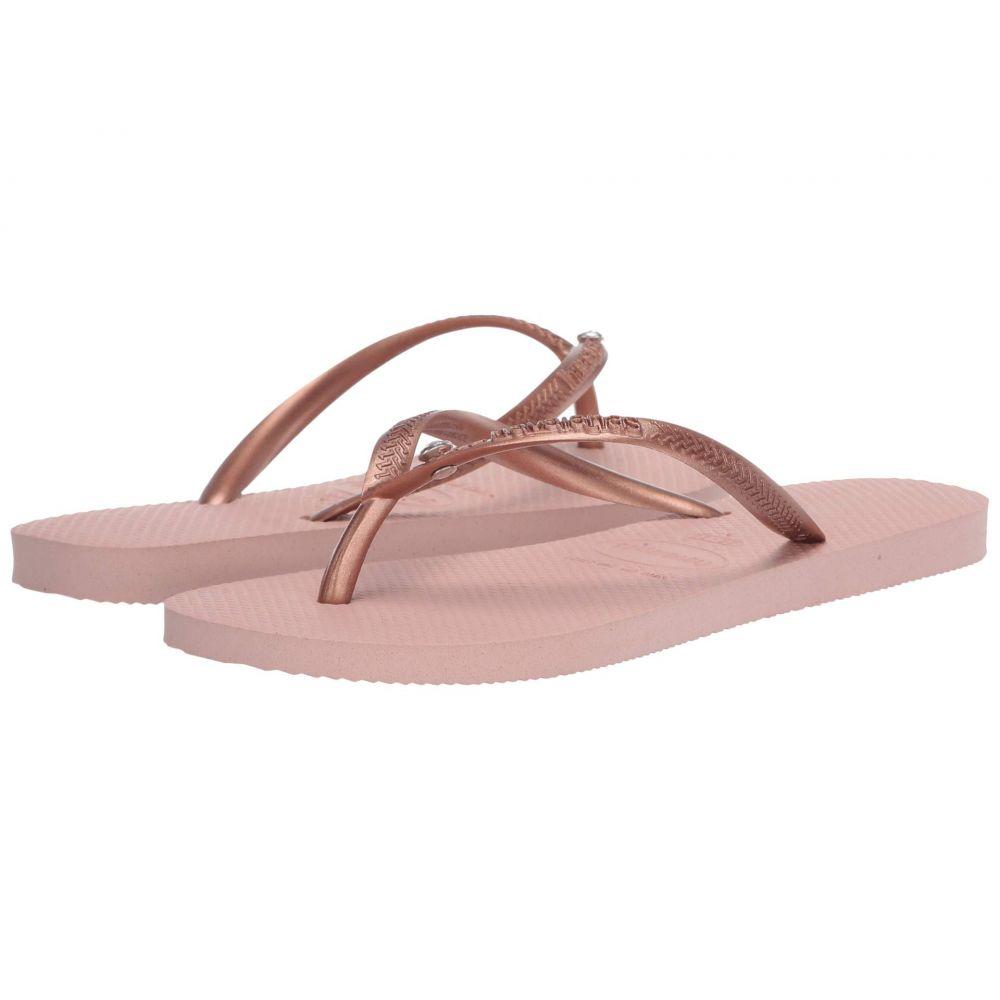 ハワイアナス Havaianas レディース ビーチサンダル シューズ・靴【Slim Crystal Glamour SW Flip Flops】Ballet Rose