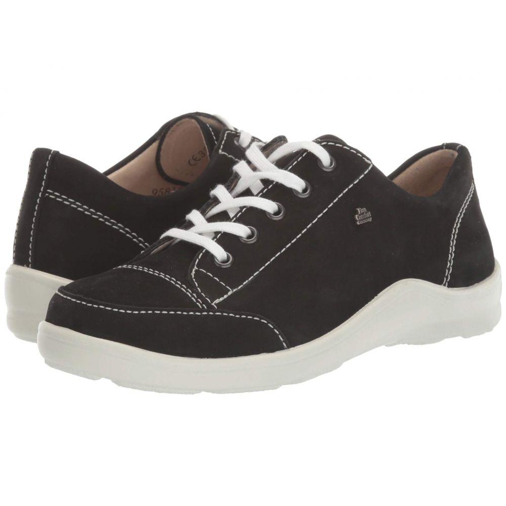 フィンコンフォート Finn Comfort レディース スニーカー シューズ・靴【Soho-S】Black/Nubuck