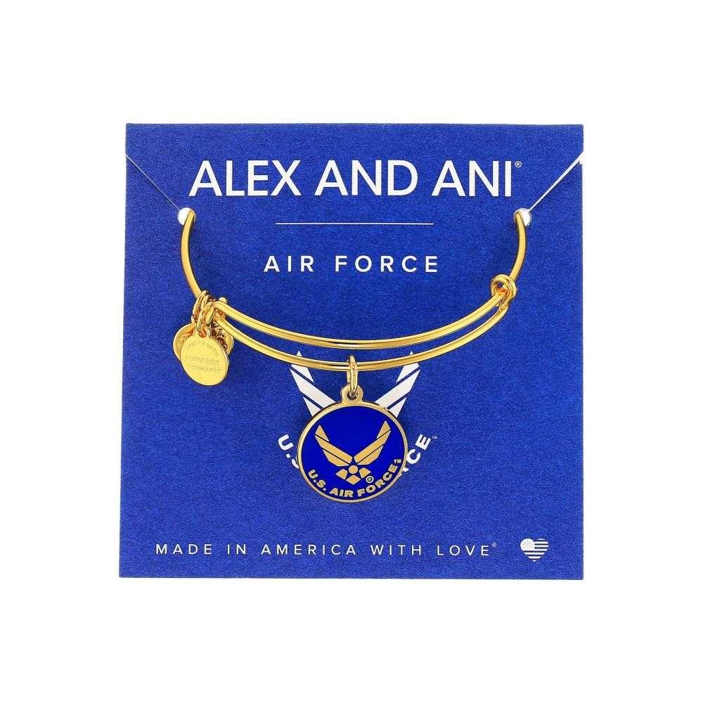 アレックス アンド アニ Alex and Ani レディース ブレスレット ジュエリー・アクセサリー【US Air Force】Gold