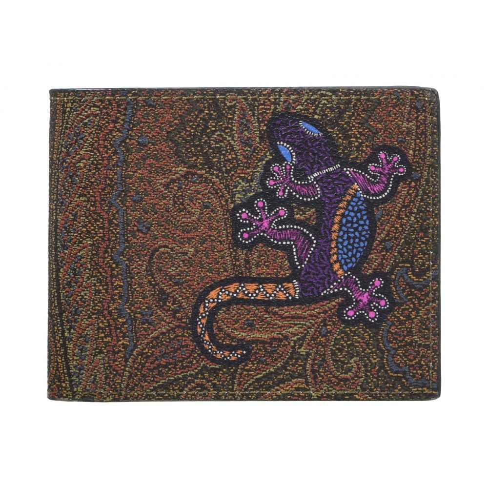 エトロ Etro メンズ 財布 二つ折り【Gecko Paisley Bifold Wallet】Light Red