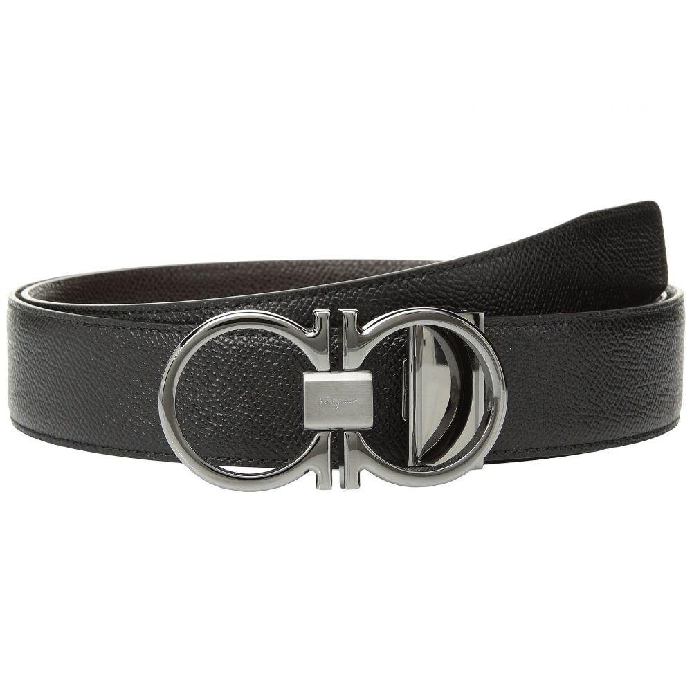 サルヴァトーレ フェラガモ Salvatore Ferragamo メンズ ベルト 【Adjustable/Reversible Belt - 9661】Black/T-Moro