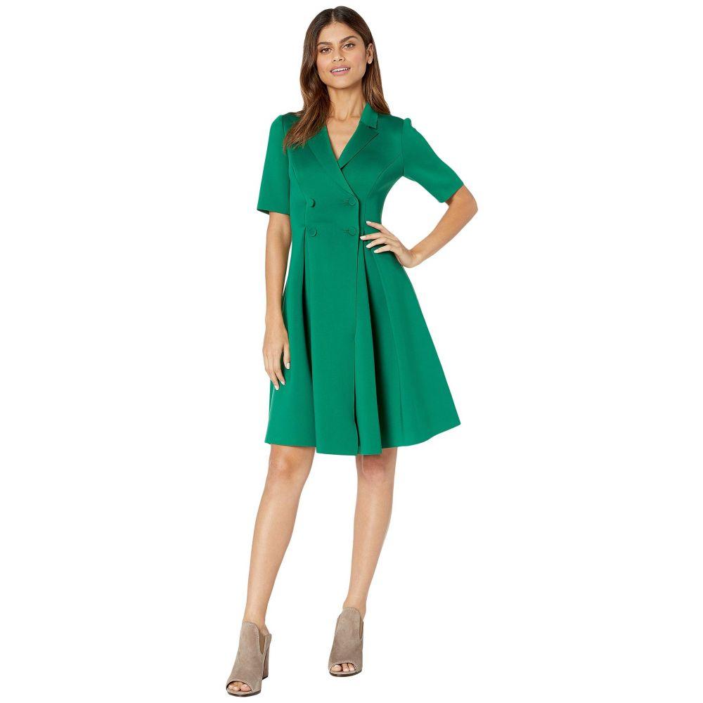 バッジェリー ミシュカ Badgley Mischka レディース ワンピース ワンピース・ドレス【Flare Scuba Suit Dress】Green