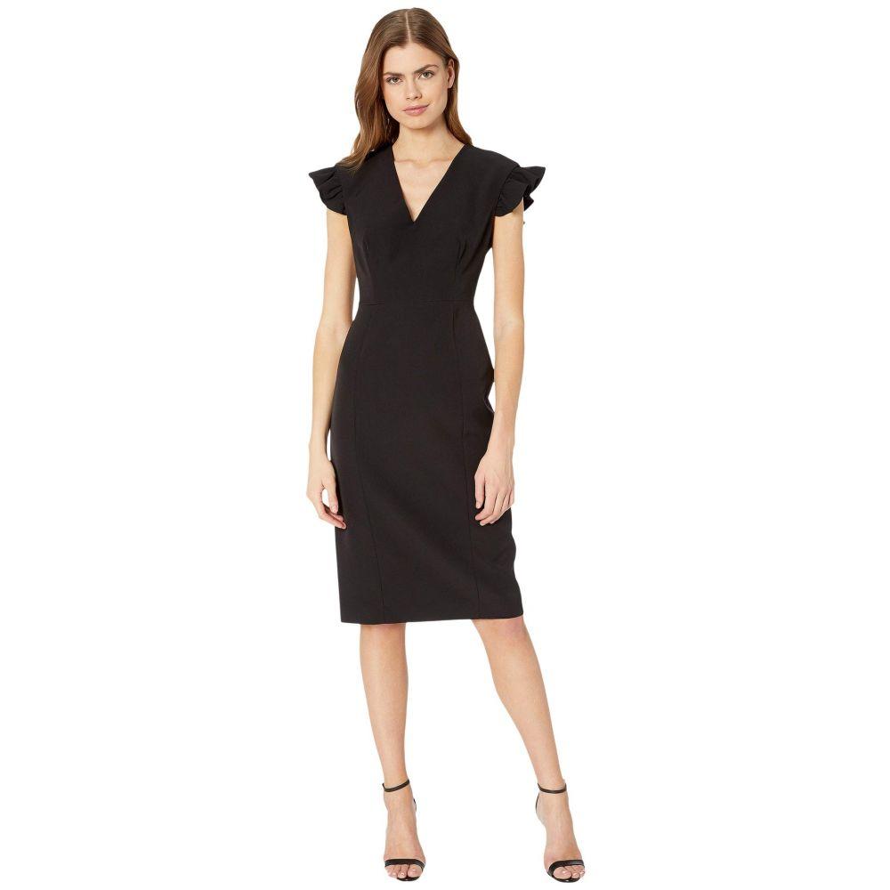 ミリー Milly レディース ワンピース ワンピース・ドレス【Cady Beckett Ruffle Sleeve Dress】Black