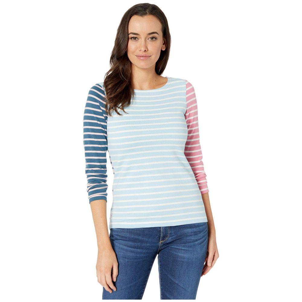 ジュールズ Joules レディース Tシャツ トップス【Harbour】Blue/Cream Stripe