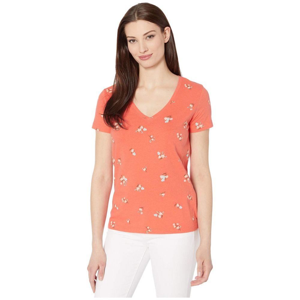 ラッキーブランド Lucky Brand レディース Tシャツ Vネック トップス【Short Sleeve V-Neck Floral Tee】Red Multi