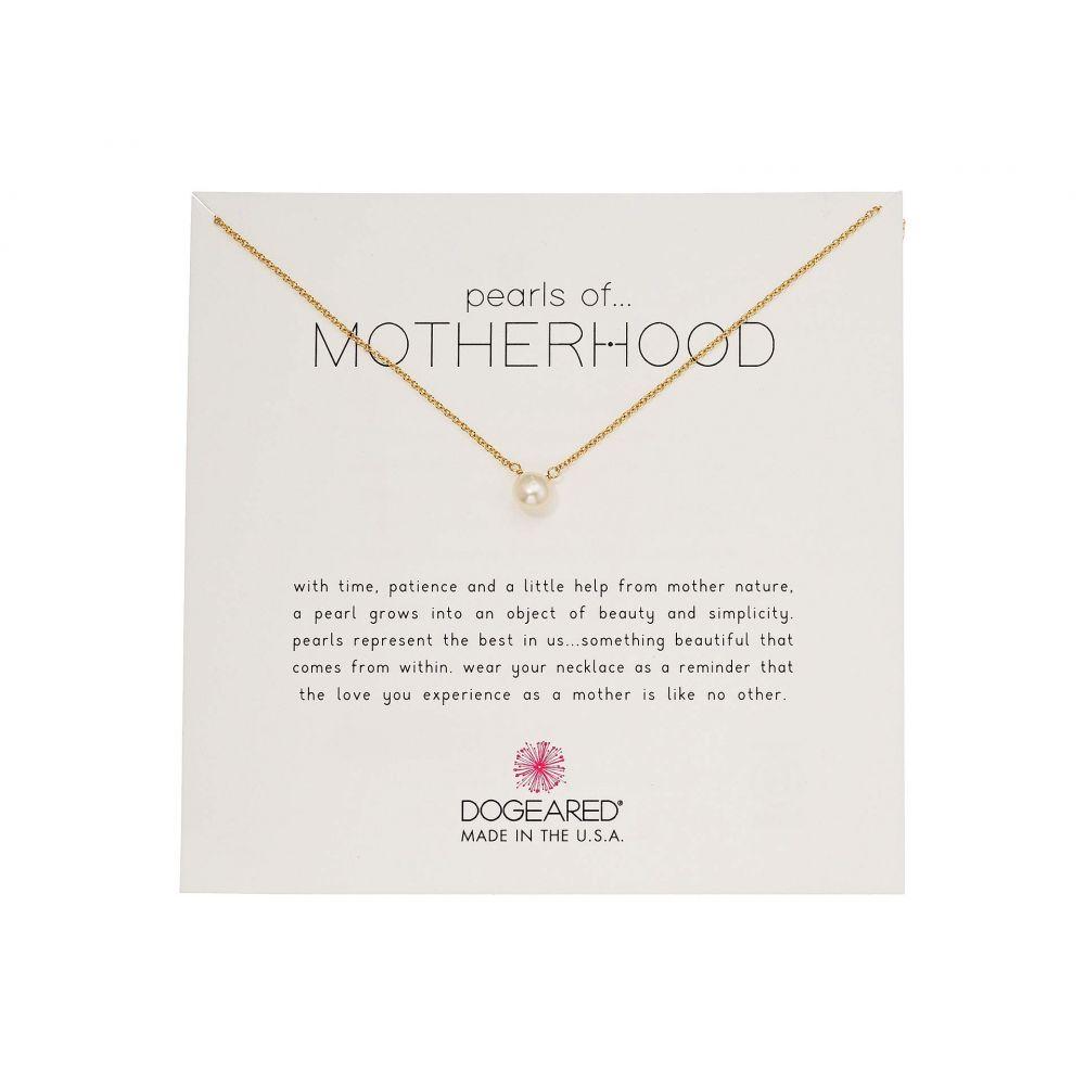 ドギャード Dogeared レディース ネックレス ジュエリー・アクセサリー【Pearls of...Motherhood, Small Button White Pearl Necklace】Gold