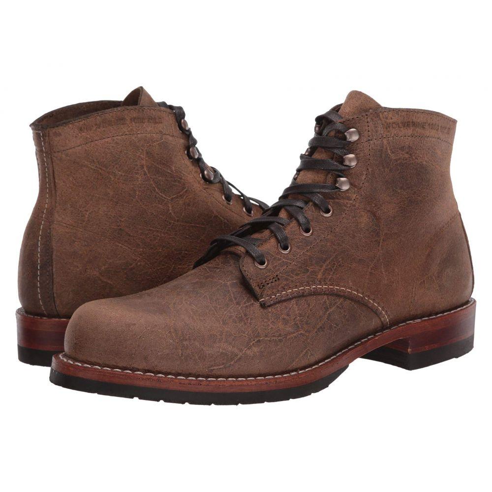ウルヴァリン ヘリテージ Wolverine Heritage メンズ ブーツ シューズ・靴【Original 1000 Mile Evans Boot】Brown Waxy Suede