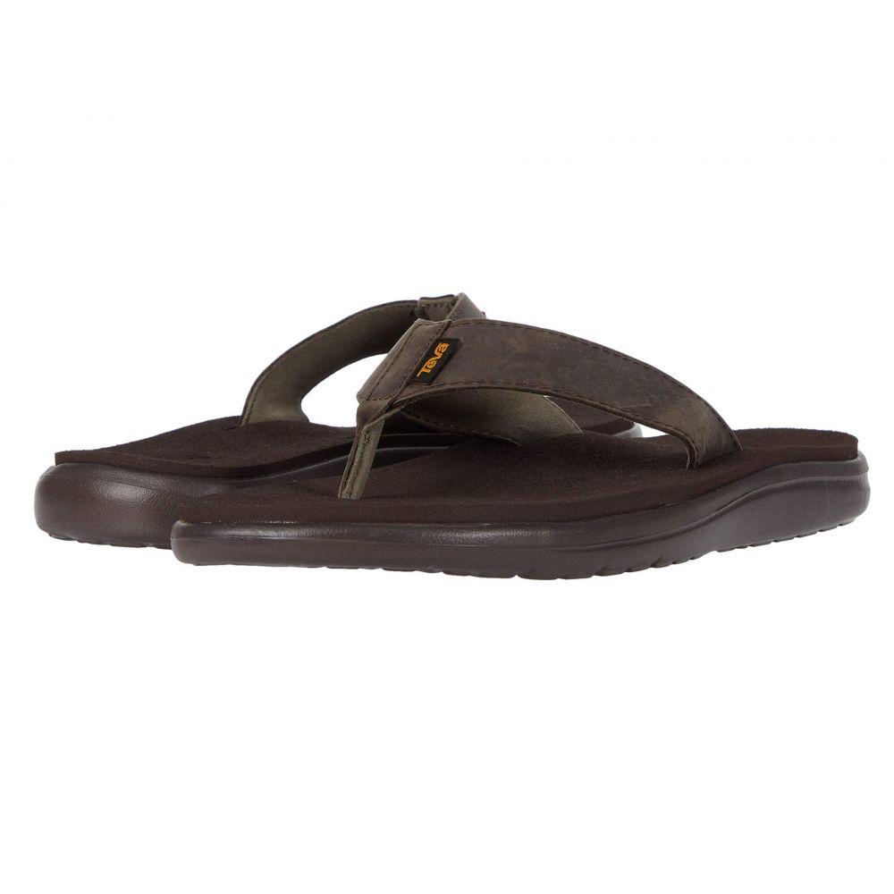 テバ Teva メンズ ビーチサンダル シューズ・靴【Voya Flip Leather】Chocolate Brown
