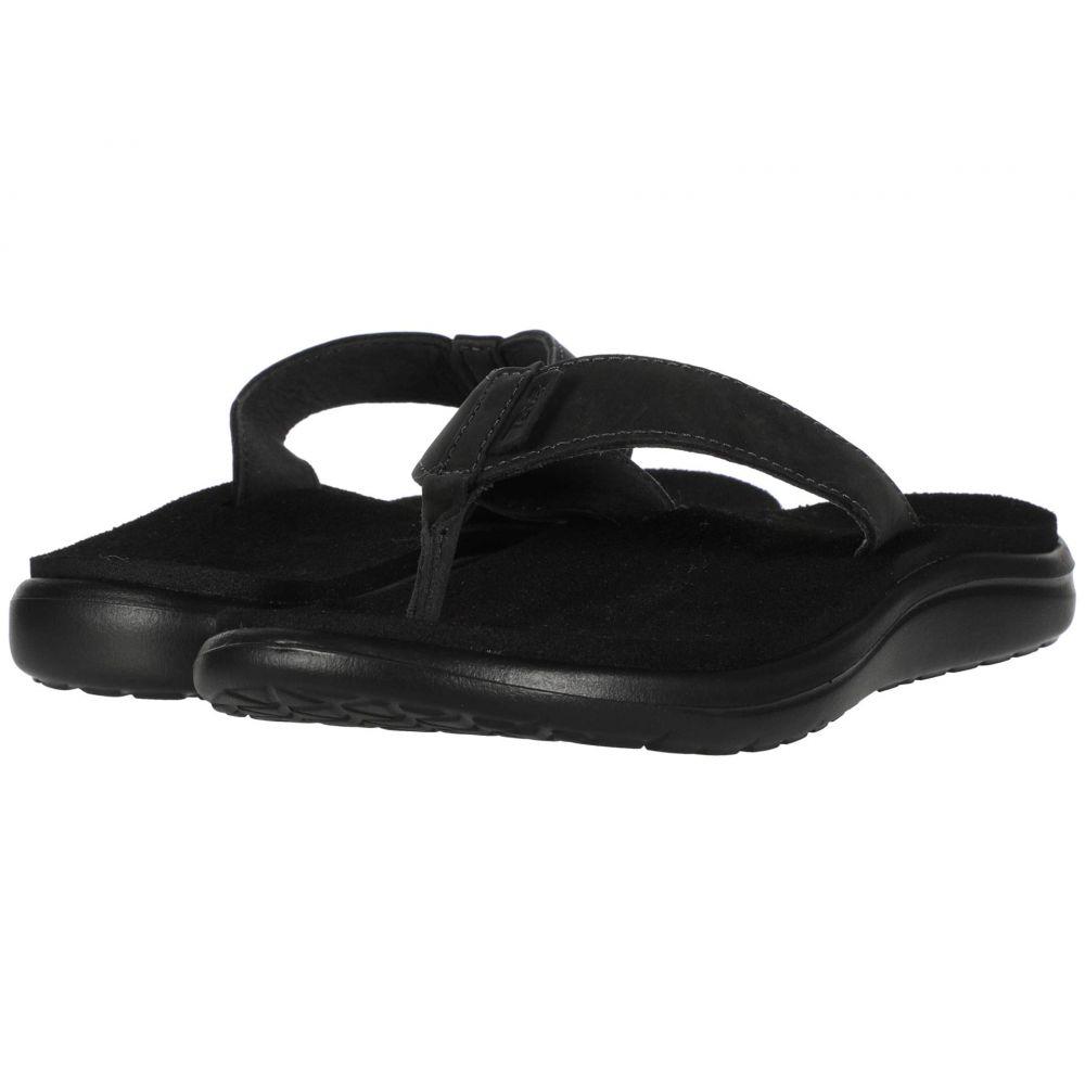テバ Teva レディース ビーチサンダル シューズ・靴【Voya Flip Leather】Black