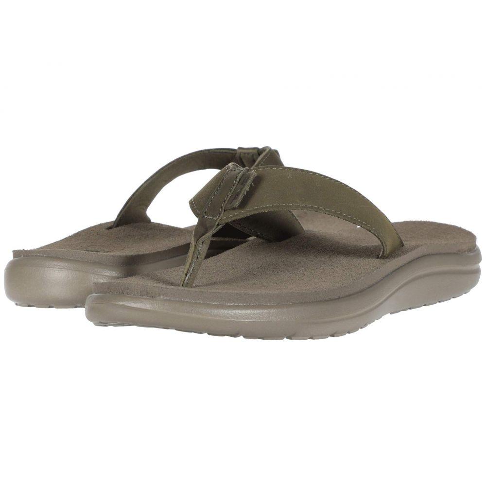 テバ Teva レディース ビーチサンダル シューズ・靴【Voya Flip Leather】Burnt Olive