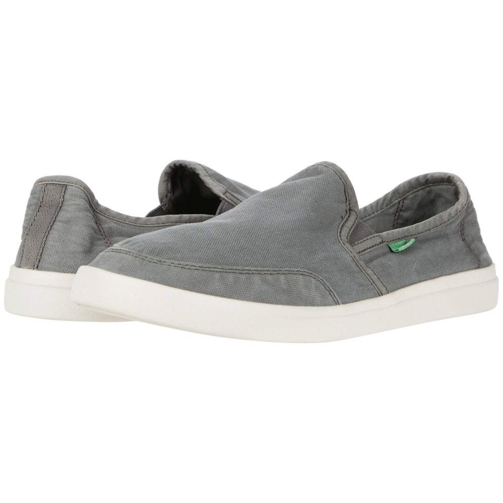 サヌーク Sanuk メンズ スリッポン・フラット スニーカー シューズ・靴【Vagabond Slip-On Sneaker】Charcoal