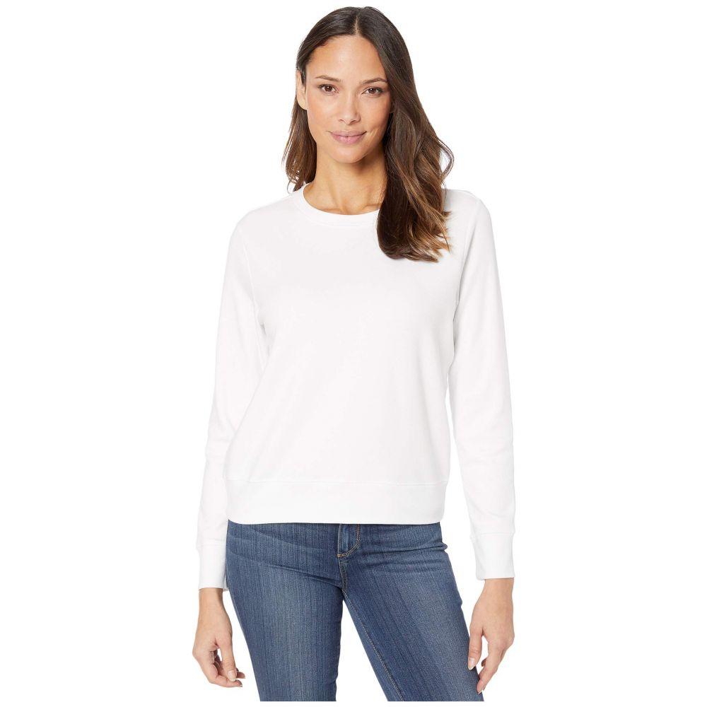 オルタナティヴ Alternative レディース スウェット・トレーナー トップス【Cotton Modal Interlock Pullover Crew Neck Sweatshirt】White