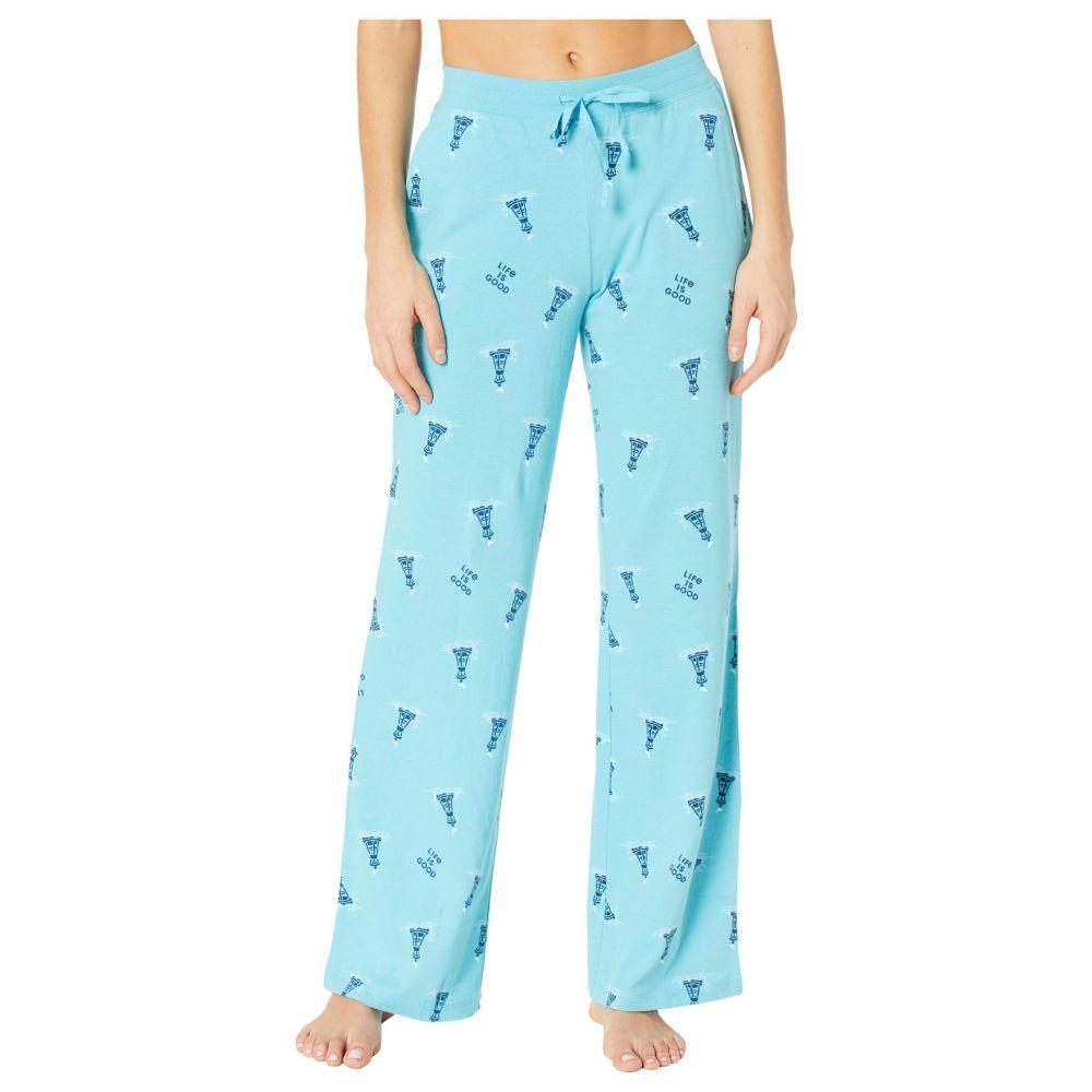 ライフイズグッド Life is Good レディース パジャマ・ボトムのみ インナー・下着【Snuggle Up Sleep Pants】Coastal Blue Buoy Print