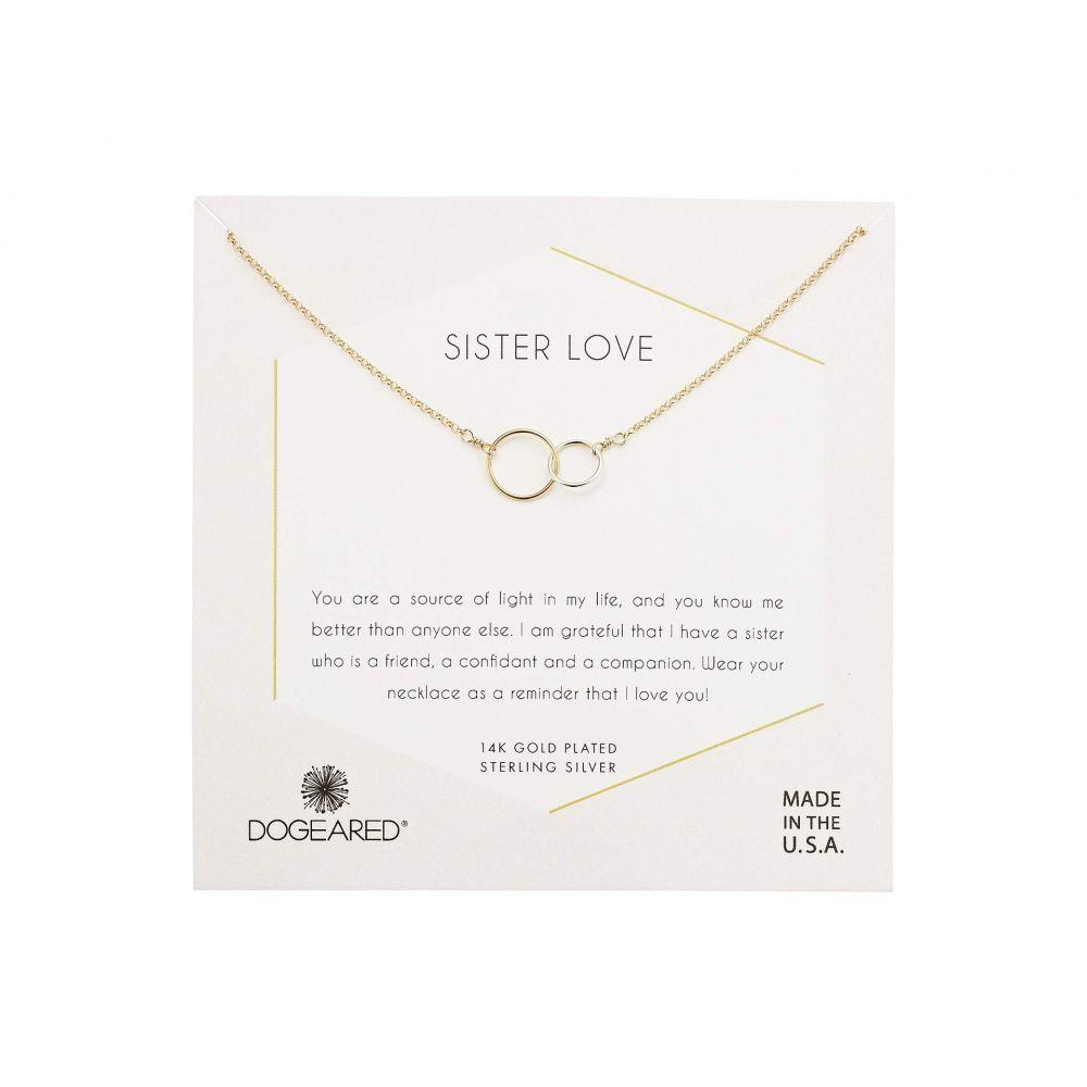 ドギャード Dogeared レディース ネックレス ジュエリー・アクセサリー【Sister Love, Mixed Metal Linked Rings Necklace】Gold/Sterling Silver