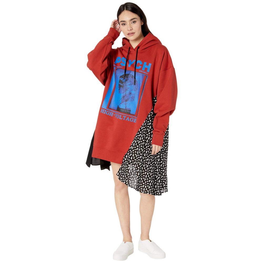 マックイーン McQ レディース ワンピース パーカーワンピース ワンピース・ドレス【Hybrid Hoodie Dress】Rust