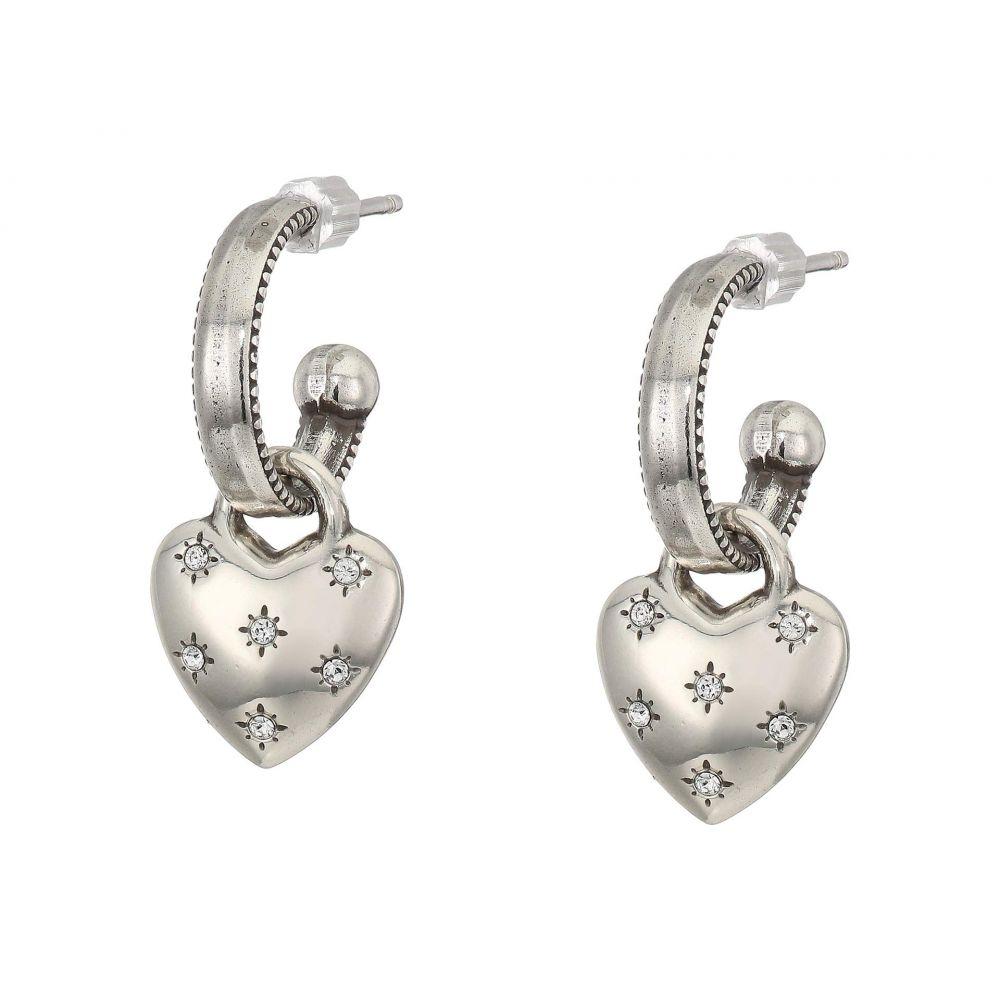 ブライトン Brighton レディース イヤリング・ピアス ハート ジュエリー・アクセサリー【Stellar Heart Post Hoop Earrings】Crystal