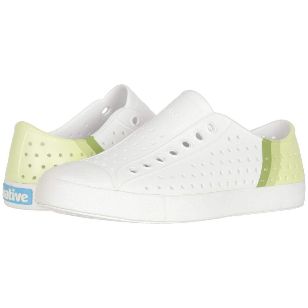 ネイティブ シューズ Native Shoes レディース スニーカー シューズ・靴【Jefferson Block】Shell White/Shell White/Cucumber Gradient Block