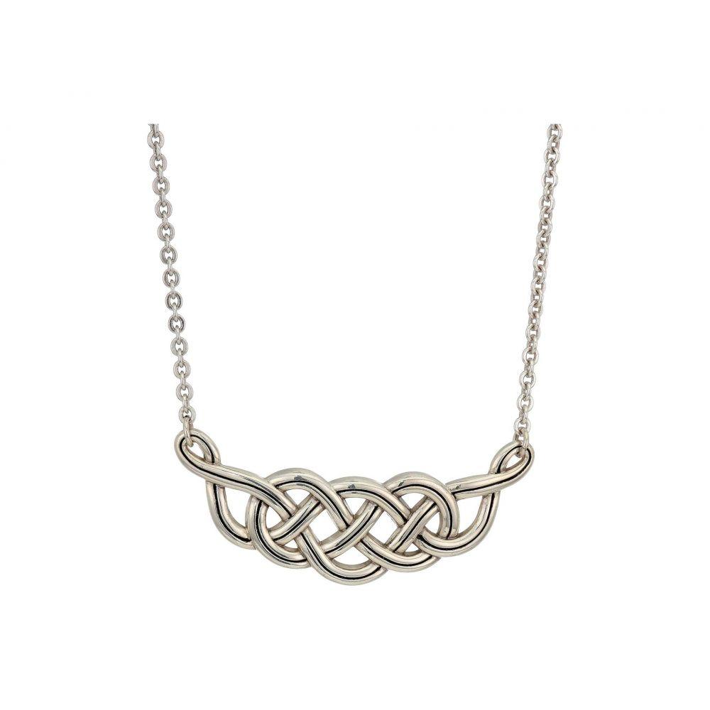 ブライトン Brighton レディース ネックレス ジュエリー・アクセサリー【Interlok Braid Collar Necklace】Silver