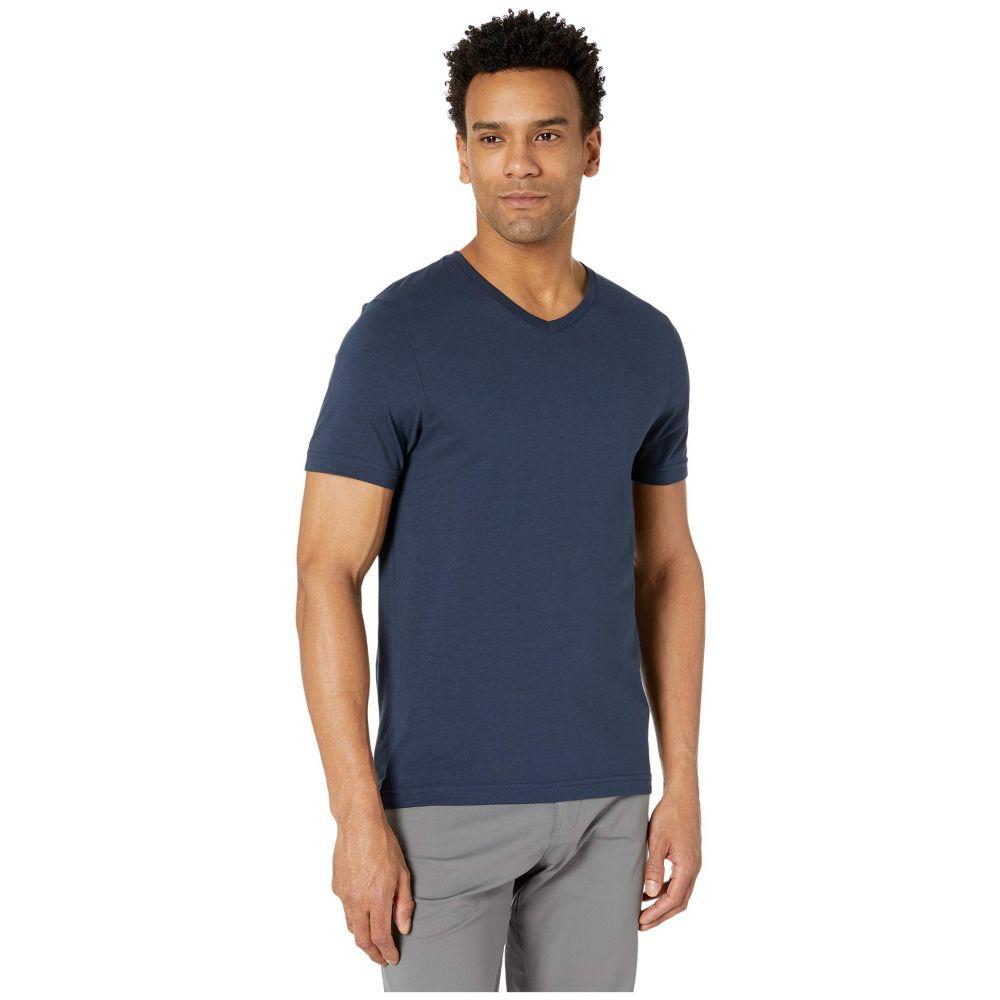 ローヌ メンズ トップス Tシャツ Navy サイズ交換無料 超人気 商店 Vネック Tee Rhone Element V-Neck