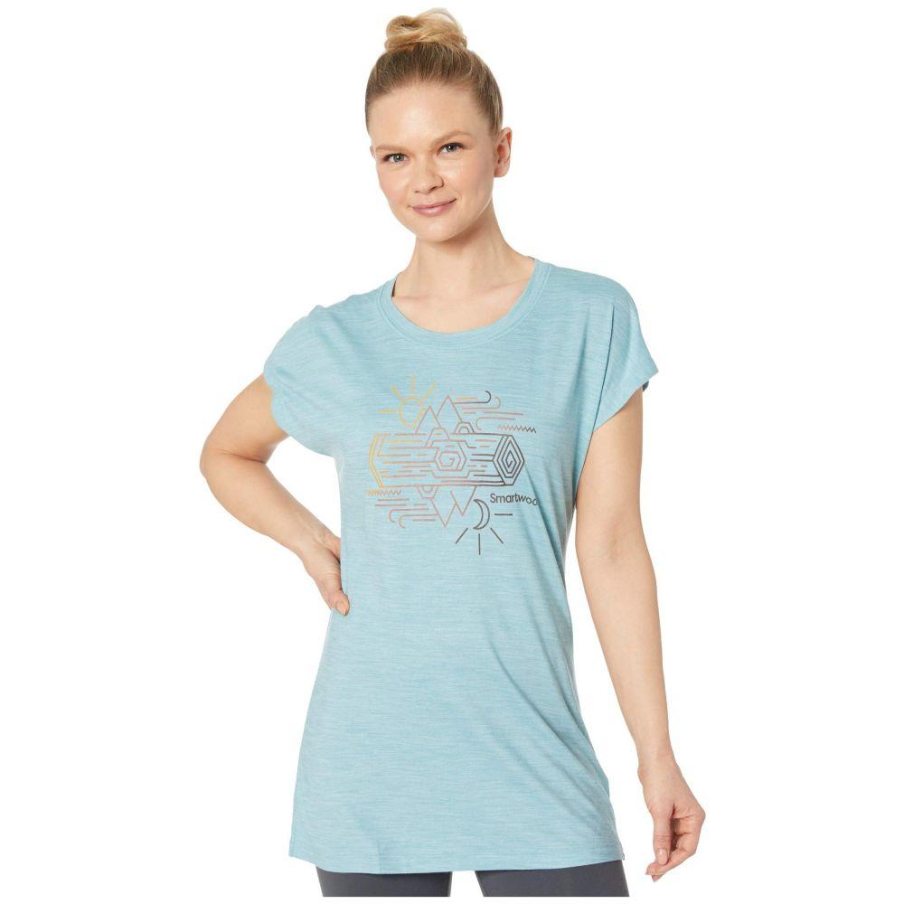 スマートウール Smartwool レディース Tシャツ トップス【Merino Sport 150 Mountain Reflection Tee】Wave Blue Heather