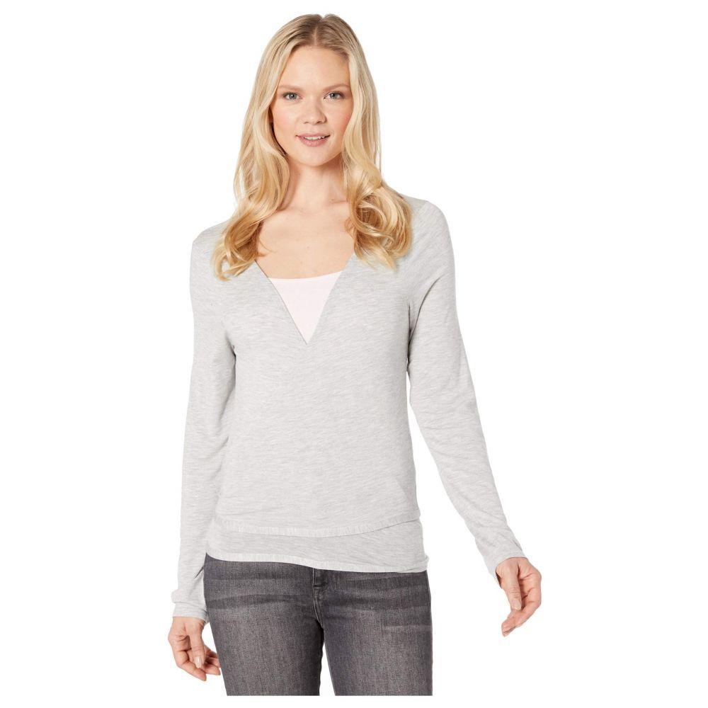 ロール Lole レディース Tシャツ トップス【Elisa Wrap】Light Grey Heather