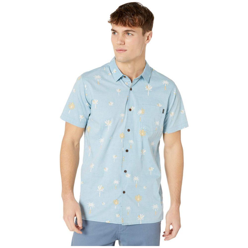 リップカール Rip Curl メンズ 半袖シャツ トップス【Beachside Short Sleeve Shirt】Blue