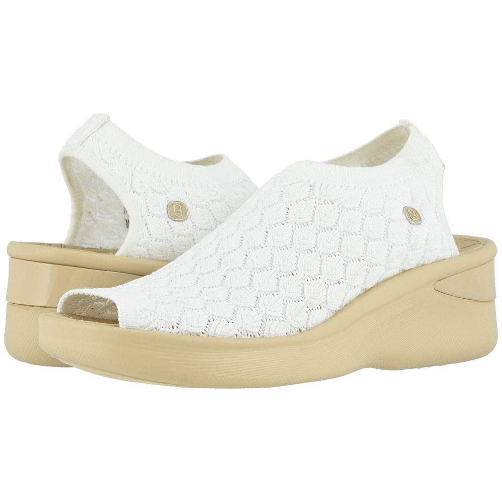 ゼィース Bzees レディース サンダル・ミュール シューズ・靴【Secret】White Crochet Knit