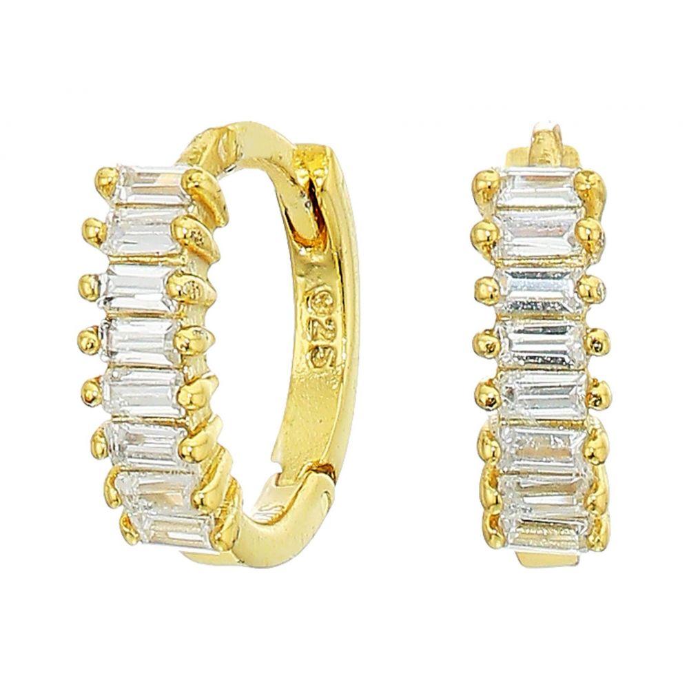 シャシ SHASHI レディース イヤリング・ピアス ジュエリー・アクセサリー【Teagan Huggie Earrings】Gold/Clear