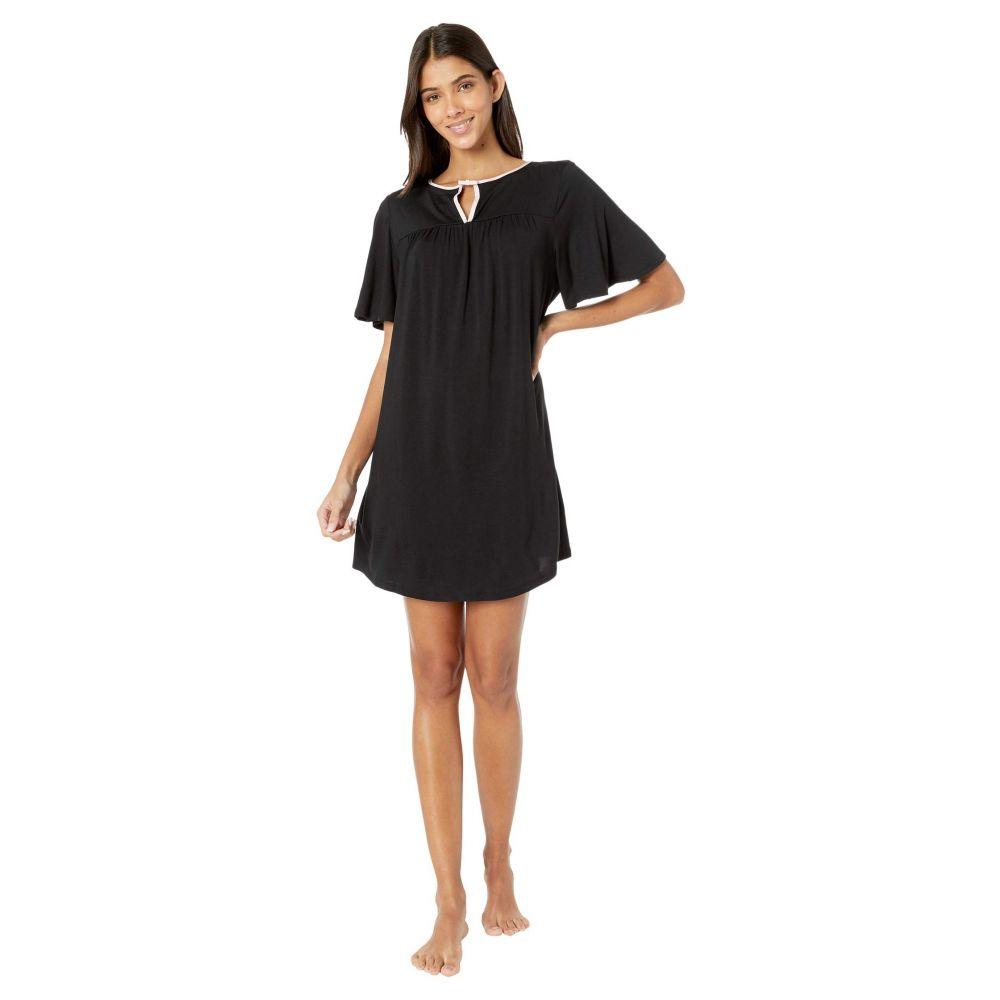 ケイト スペード Kate Spade New York レディース パジャマ・トップのみ インナー・下着【Evergreen Modal Jersey Short Sleeve Sleepshirt】Black