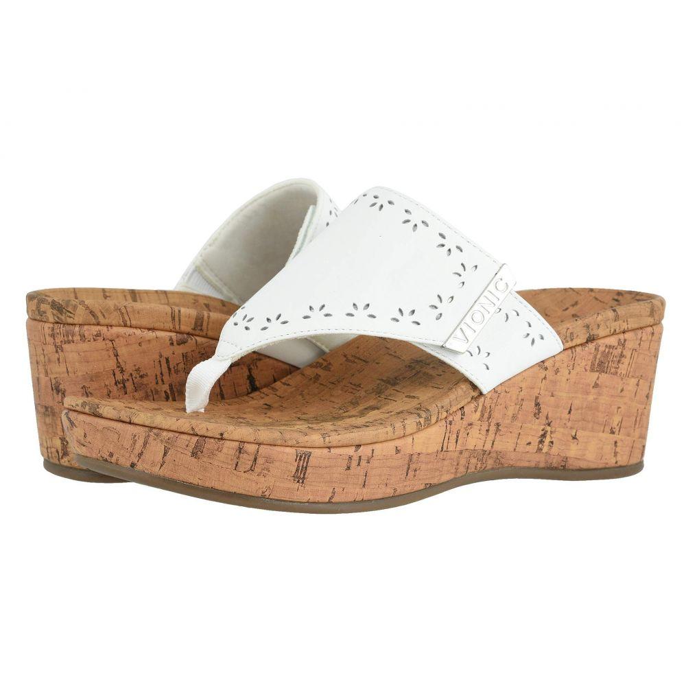 バイオニック VIONIC レディース ヒール シューズ・靴【Anitra】White Leather