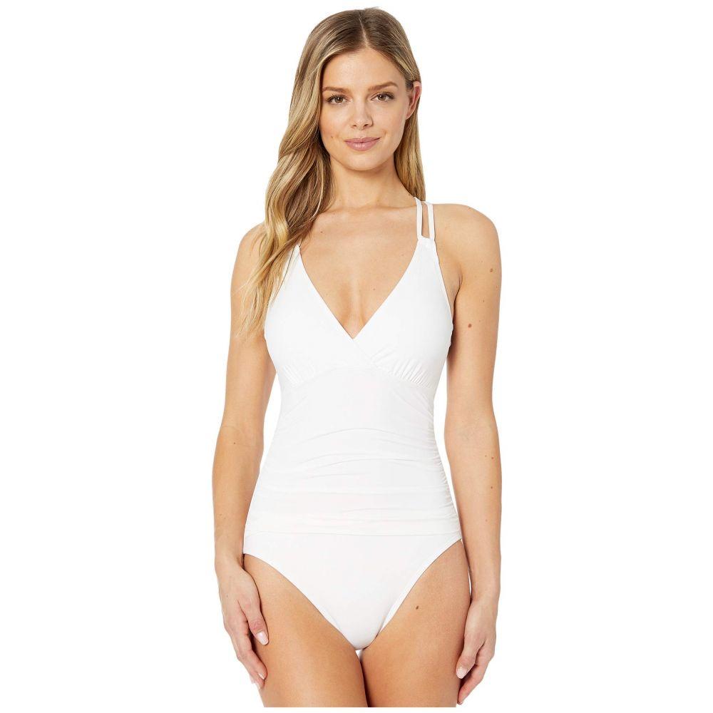 ラブランカ La Blanca レディース ワンピース 水着・ビーチウェア【Island Goddess Surplice Mio One-Piece】White