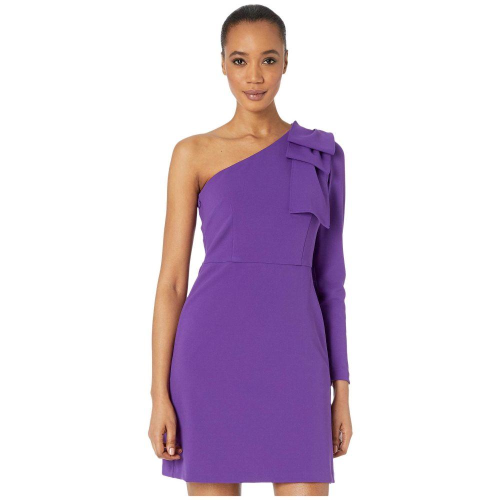 ドナ モルガン Donna Morgan レディース ワンピース スリットワンピース ワンピース・ドレス【One Shoulder Stretch Crepe Dress with Front Slit】Bright Purple