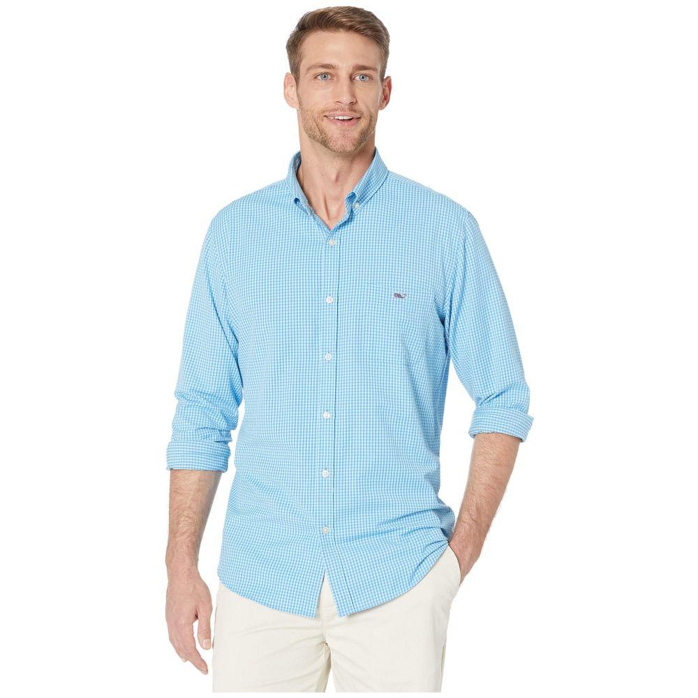 ヴィニヤードヴァインズ Vineyard Vines メンズ シャツ トップス【Slim Fit Lemon Shark Performance Tucker Button-Down Shirt】Hull Blue