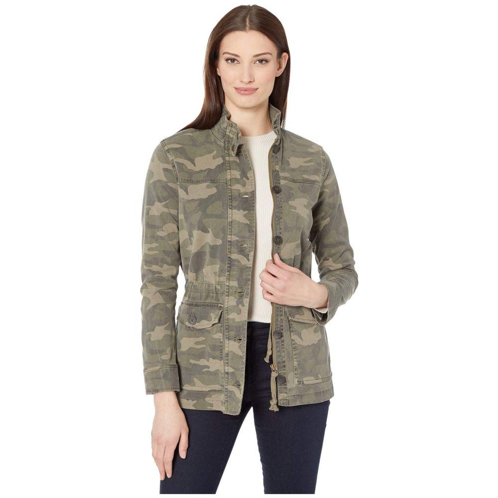 ラッキーブランド Lucky Brand レディース ジャケット アウター【Long Sleeve Button-Up Two-Pocket Camo Utility Jacket】Green Multi
