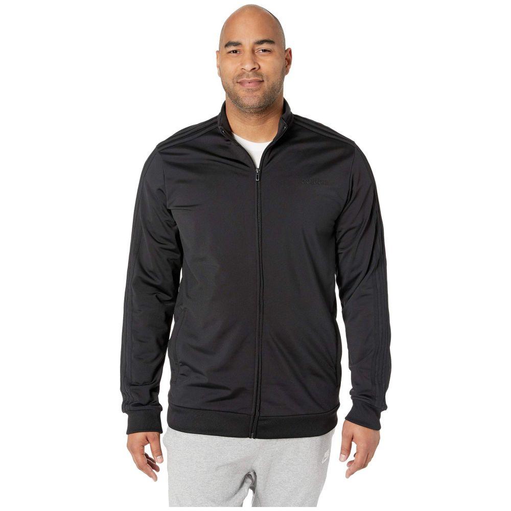 アディダス adidas メンズ ジャージ 大きいサイズ アウター【Big & Tall Essentials 3-Stripe Tricot Track Jacket】Black/Black